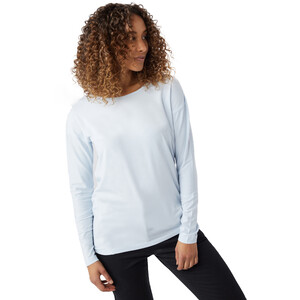 tentree Goji Langarmshirt Damen skyway blue micro stripe skyway blue micro stripe