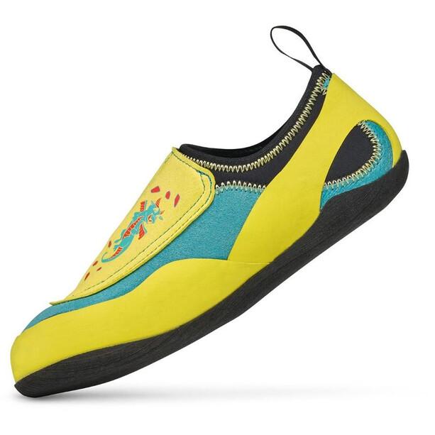 Scarpa Piki J Chaussons d'escalade Enfant, maledive/yellow