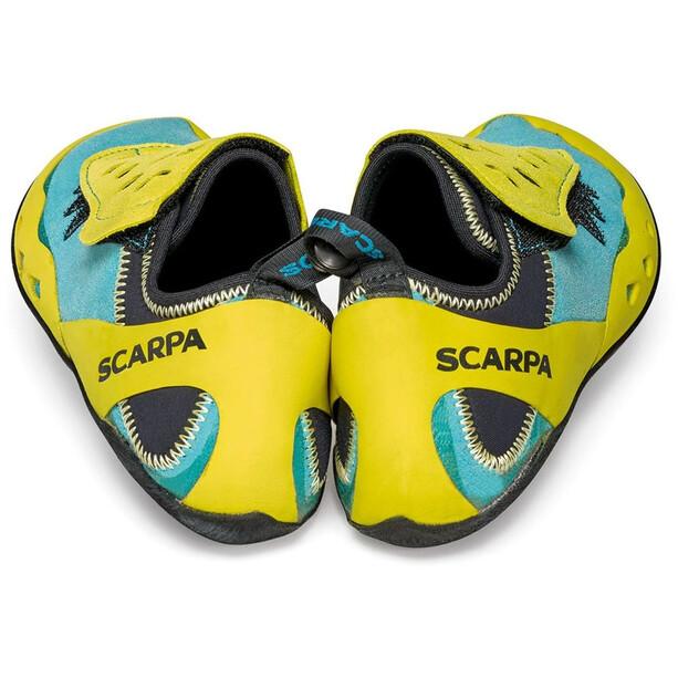 Scarpa Piki J Kiipeilykengät Lapset, maledive/yellow