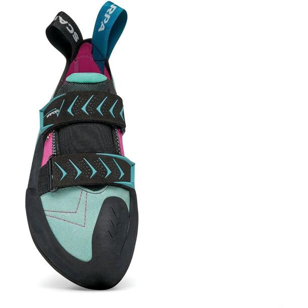 Scarpa Vapor V Chaussures d'escalade Femme, dahlia/aqua