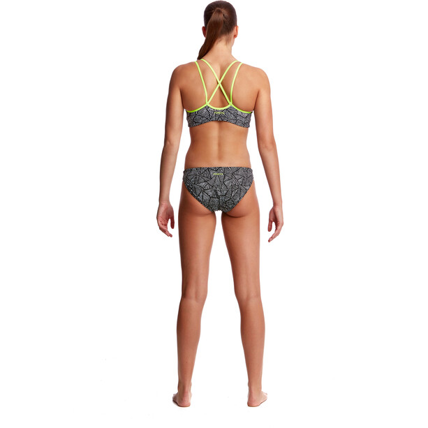 Funkita Criss Cross Top Damen black widow
