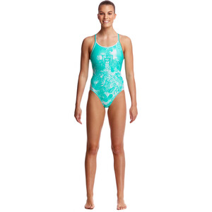 Funkita Diamond Back One Piece Badeanzug Damen tropical sunrise tropical sunrise