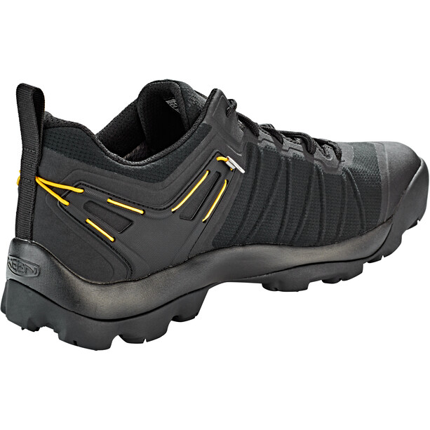 Keen Venture WP Shoes Herr black/vibrant yellow
