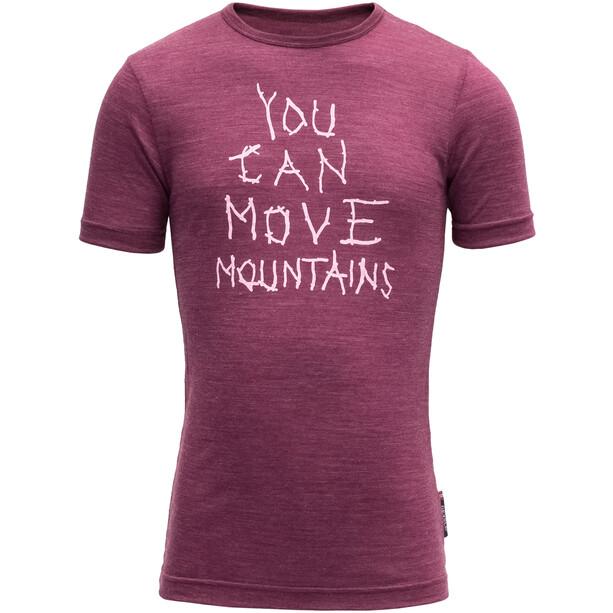 Devold Moving Mountain Tee Barn plum