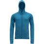 Devold Nibba Hooded Jacket Men blue melange