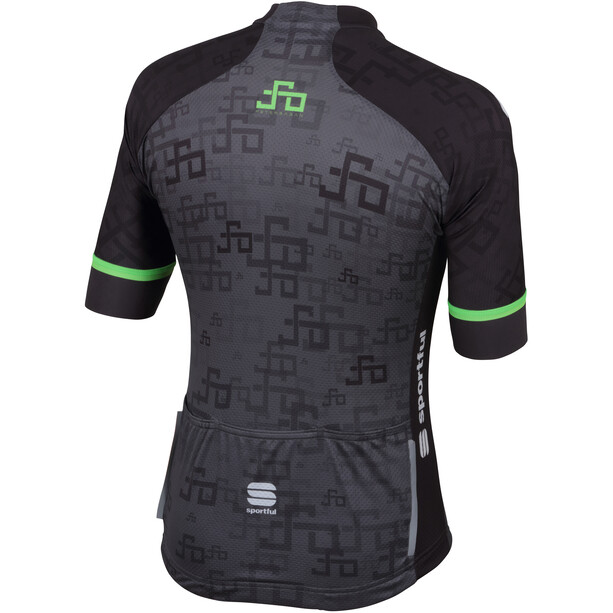Sportful Sagan Logo Bodyfit Team Trikot Herren grey-green