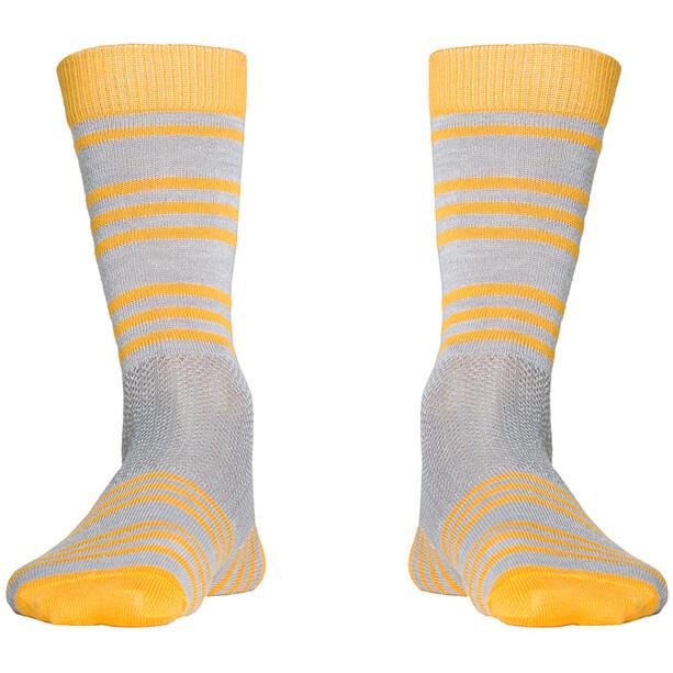 Röjk Everyday Merino Socks sea buckthorn stripe