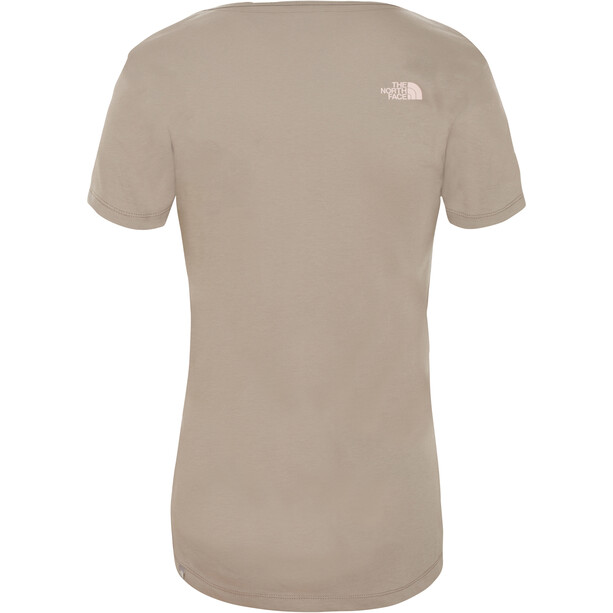 The North Face Simple Dome Kurzarm T-Shirt Damen silt grey