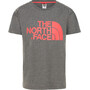 The North Face Boyfriend Kurzarm T-Shirt Mädchen tnf medium grey heather