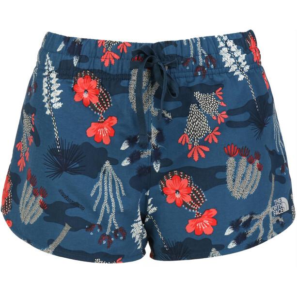 The North Face Class V Mini Shorts Damen blue wing teal joshua tree print