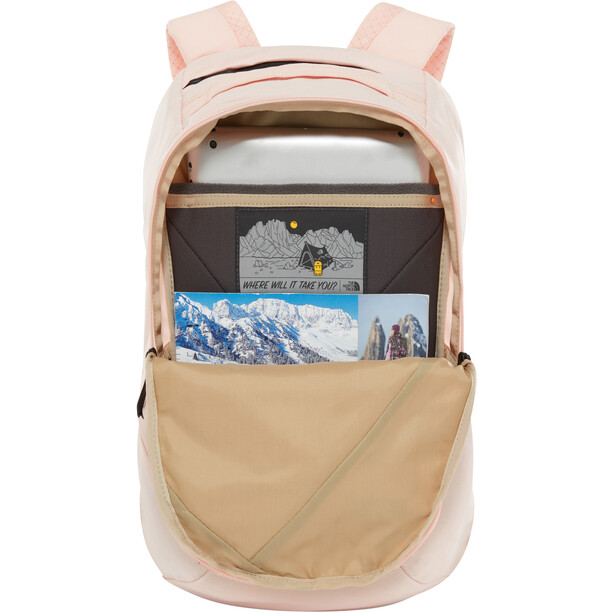 The North Face Electra Rucksack Damen pink salt light heather/tnf black