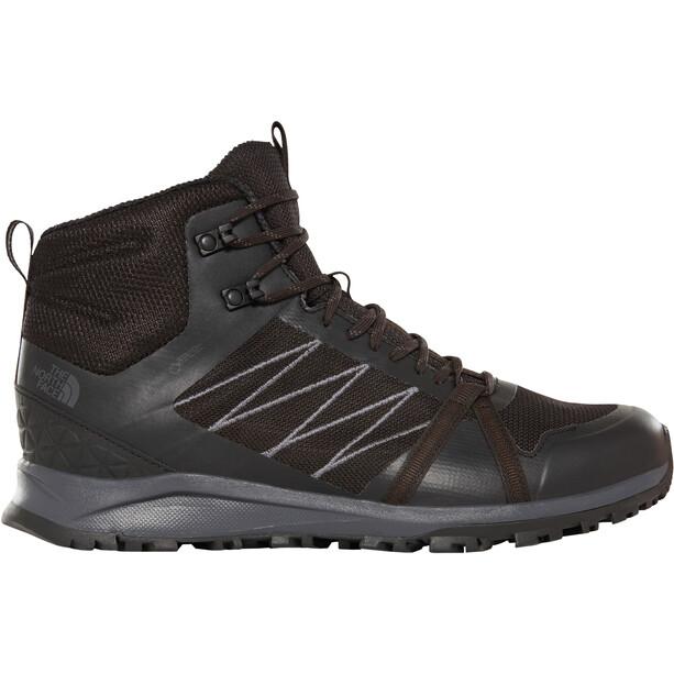 The North Face Litewave Fastpack II Mid GTX Schuhe Herren tnf black/ebony grey