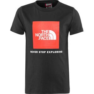 The North Face Box S/S Tee Pojkar tnf black/fiery red tnf black/fiery red