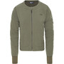 The North Face Mountain Sweatshirt Collarless Full Zip Dam new taupe green