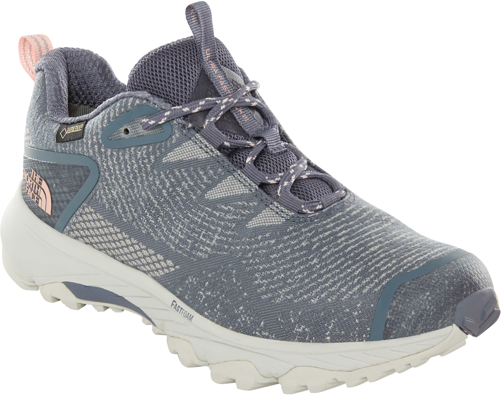 The North Face Ultra Fastpack III GTX Woven Shoes Dam grisaille greypink salt