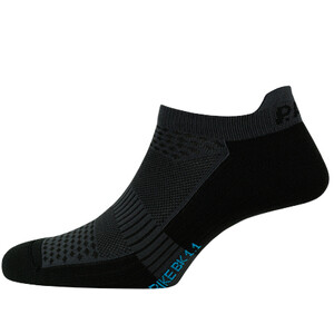 P.A.C. BK 1.1 Bike Footie Zip Socken Damen black black