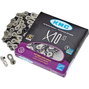 KMC X10 Kette 10-fach silber/schwarz silber/schwarz