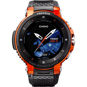 CASIO PRO TREK SMART WSD-F30-RGBAE Smartwatch Herren black/orange/grey black/orange/grey