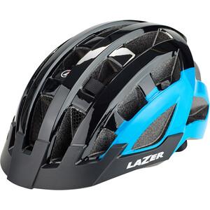 Lazer Compact Deluxe Helm black-blue black-blue