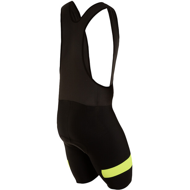 PEARL iZUMi Escape Quest Splice Bib Shorts Herre black/screaming yellow