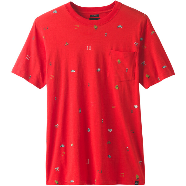 Prana Auxi Slim Pyöreäkauluksinen Lyhythihainen T-paita Miehet, punainen