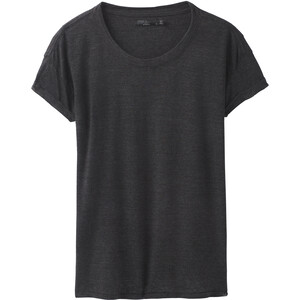 Prana Cozy Up Kurzarm T-Shirt Damen charcoal heather charcoal heather