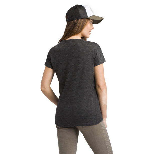 Prana Cozy Up Kurzarm T-Shirt Damen charcoal heather