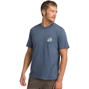 Prana KonaZona Kurzarm T-Shirt Herren denim heather denim heather