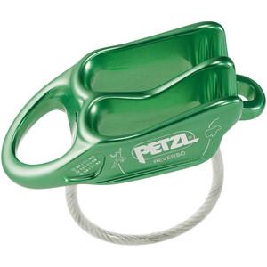 Petzl Reverso Dispositivo asegurador, verde verde