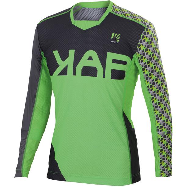 Karpos Jump LS Jersey Herr green fluo/dark grey