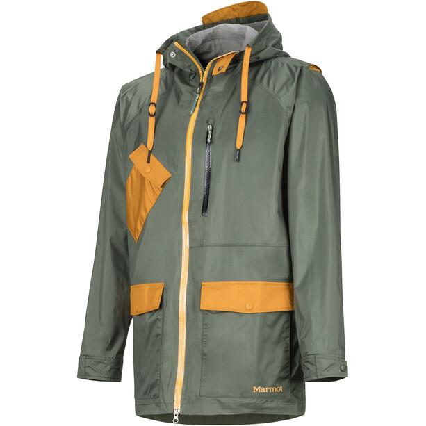 Marmot Ashbury PreCip Eco Jacket Herr crocodile/aztec gold