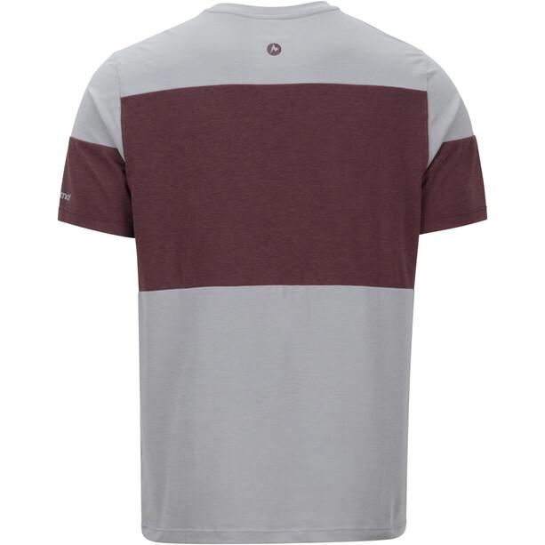 Marmot Gualala Point SS Shirt Herr grey storm/burgundy