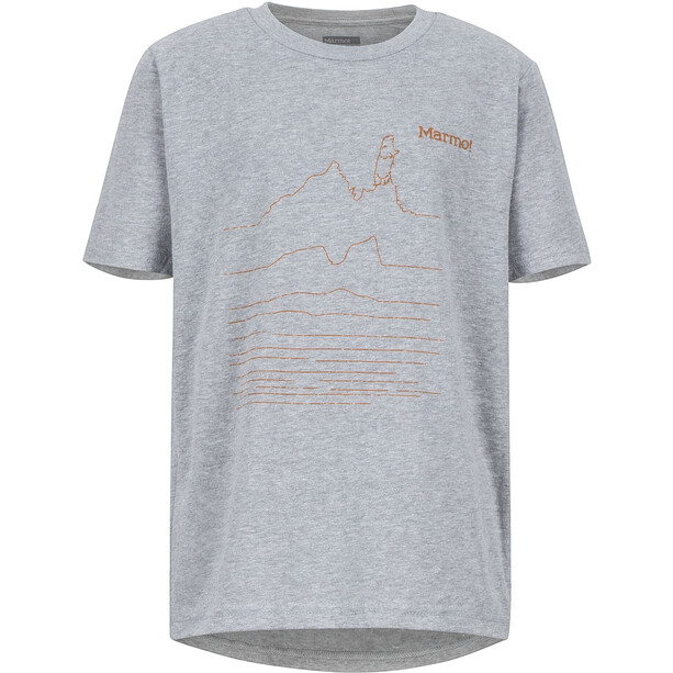 Marmot Purview SS Tee Pojkar dark grey heather