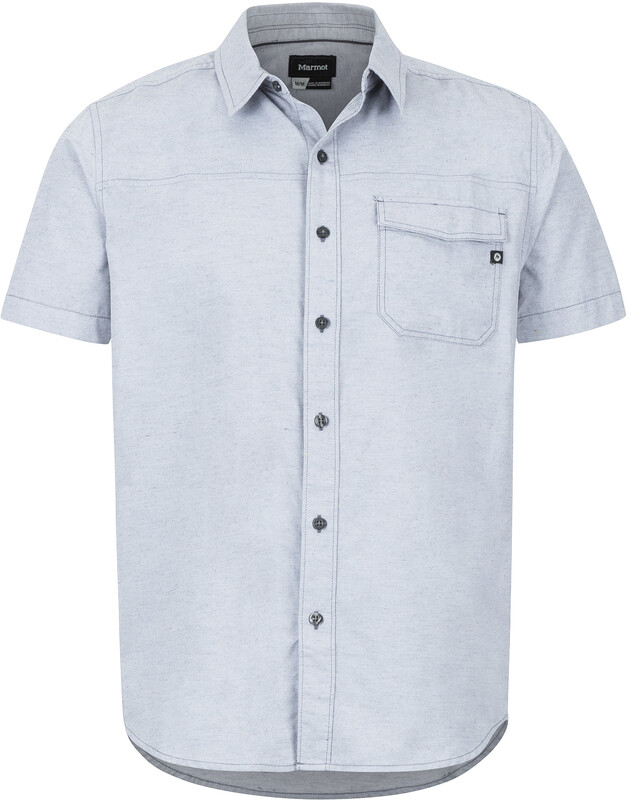 Marmot Tumalo SS Shirt Men steel onyx Kurzarm Hemden S 44150-1515-3