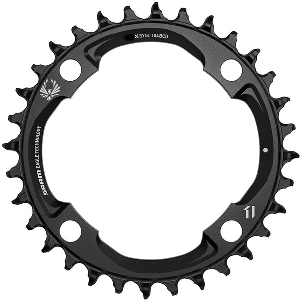 SRAM X-Sync E-MTB Chainring Light Powered 94mm Bolt Circle 12-Speed black