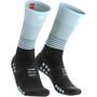 Compressport Oxygen Mid Kompressions-Socken black-iceblue
