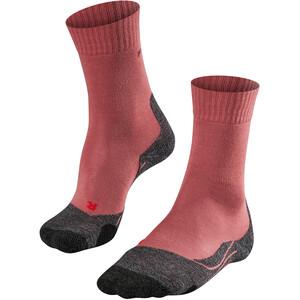 Falke TK2 Calcetines de Trekking Mujer, rojo rojo
