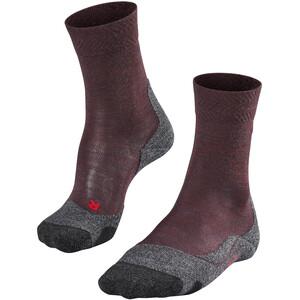 Falke TK2 Melange Calcetines de Trekking Mujer, rojo rojo