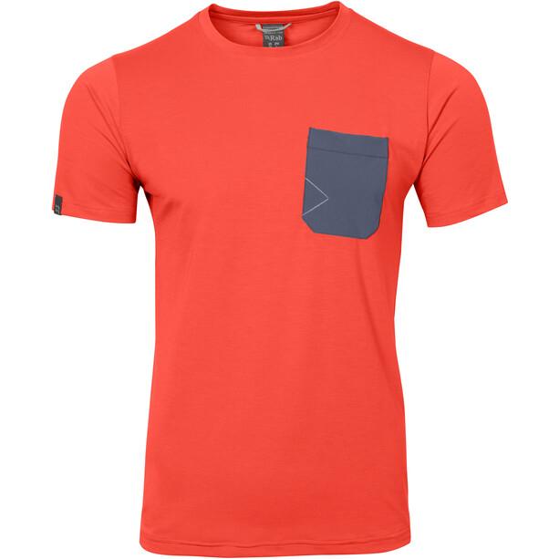 Rab Crimp Kurzarm T-Shirt Herren dark horizon