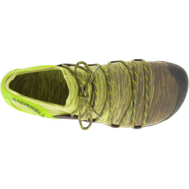 Merrell Vapor Glove 4 3D Shoes Herr olive drab/lime punch