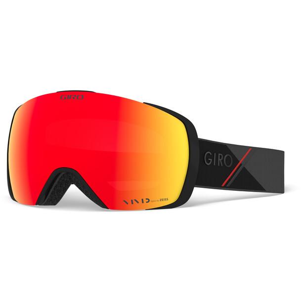 Giro Contact Snow Goggles Herren black-red sporttech w vivid ember/infrared