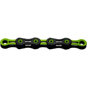 KMC X10 SL DLC Super Light Kette 10-fach schwarz/grün schwarz/grün