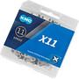 KMC X11 Kette 11-fach silber/schwarz
