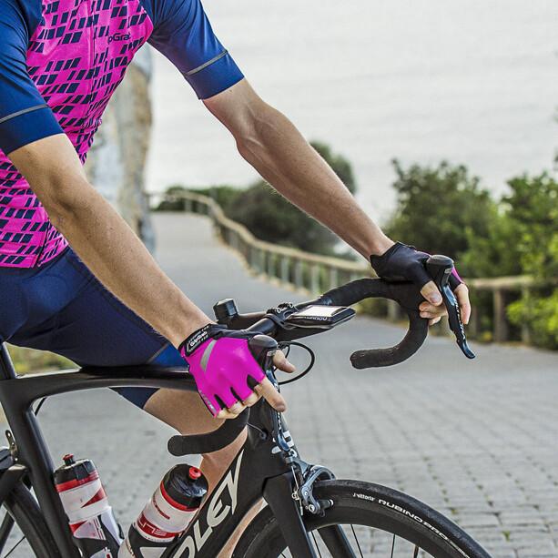 GripGrab ProGel Hi-Vis Gepolsterte Kurzfinger-Handschuhe pink