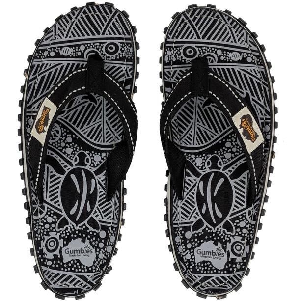 GUMBIES Islander Flip-flopit, black nature