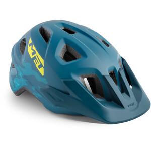 MET Eldar ヘルメット キッズ ペトロルブルー ブルー カモ