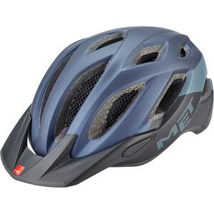 MET Crossover Helm schwarz/blau schwarz/blau