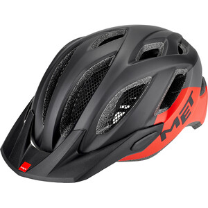 MET Crossover Helmet black/red black/red
