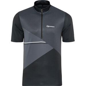 Gonso Ripo Half-Zip Kurzarm Radshirt Herren schwarz/grau schwarz/grau