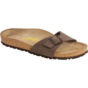 Birkenstock Madrid Sandals Birko-Flor Nubuk Narrow, ruskea ruskea